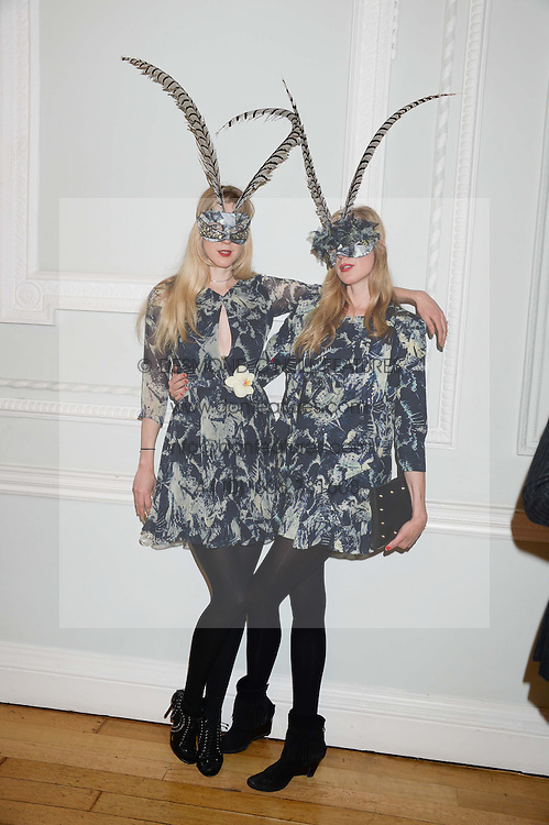 Left to right, ANNETTE FELDER and DANIELA FELDER at the The Animal Ball – Masking Up Moment held at the Quintessentially Ballrooms, 29 Portland Place, London W1 on 10th June 2013.