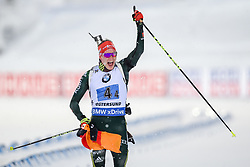 March 16, 2019 - –Stersund, Sweden - 190316 Benedikt Doll of Germany  celebrates after the Men's 4x7,5 km Relay during the IBU World Championships Biathlon on March 16, 2019 in Östersund..Photo: Petter Arvidson / BILDBYRÃ…N / kod PA / 92269 (Credit Image: © Petter Arvidson/Bildbyran via ZUMA Press)