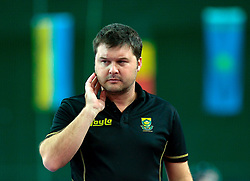 LEIZPIG - WC HOCKEY INDOOR 2015<br /> Foto: RSA v NED (Pool B)<br /> HACK Ryan coach South Africa<br /> FFU PRESS AGENCY COPYRIGHT SANDER UIJLENBROEK