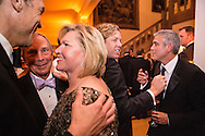 New York City Mayor Michael Bloomberg, left, and actor George Clooney, right, attend the Bloomberg Vanity Fair White House Correspondents' Association dinner afterparty at the residence of the French Ambassador on Saturday, April 28, 2012 in Washington, DC. Brendan Hoffman for the New York Times