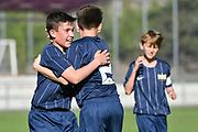 08.04.17; Zuerich; Fussball FCZ Academy - Grasshopper Club - Zuerich FE14 Oberland; <br /> Lanciano Davide (Zuerich) Lederer Pascal (Zuerich) <br /> (Andy Mueller/freshfocus)