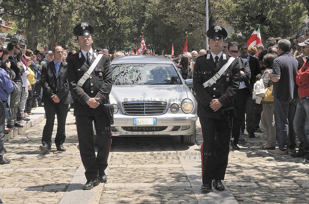 Corleone, state funeral of the unionist Placido Rizzotto killed by mafia on 1948.<br /> <br /> Funerali di stato a Corleone per il sindacalista Placido Rizzotto ucciso dalla mafia nel 48.