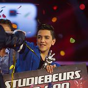 NLD/Hilversum/20140221 - Finale The Voice Kids 2014, Winnaar Ayoub Haach