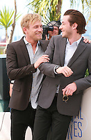 Jérémie Renier and Gaspard Ulliel at the photo call for the film Saint Laurent at the 67th Cannes Film Festival, Saturday 17th May 2014, Cannes, France.