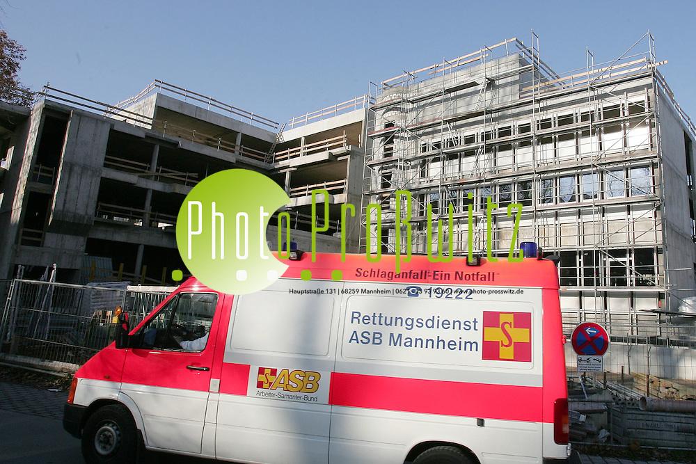 Mannheim. Klinikum. Richtfest am Neubau der Hautklinik.<br /> <br /> Bild: Markus Pro&szlig;witz<br /> ++++ Archivbilder und weitere Motive finden Sie auch in unserem OnlineArchiv. www.masterpress.org ++++