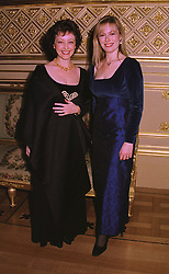 Left to right, DR MANON WILLIAMS and her sister MRS WILLIAM HAGUE, at a dinner in Berkshire on 19th November 1998.MME 125