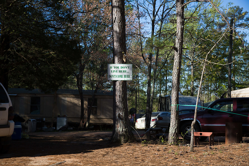 The home and property of Devin Bowen, whose call sign is Boogieman and is gunnery Sgt. of Georgia Security Force III%. Bowen allows the group to train on his property, which includes an obstacle course, once a month. This photograph was taken on Sunday, April 2, 2017. Photo by Kevin D. Liles for BuzzFeed<br /> <br /> <br /> Shot during a FTX (field training exercises) weekend for Georgia Security Force III% militia, as well as some members for the South Carolina Security Force III%. The group, whose membership fluctuates between about 20-40 members, trains once a month.