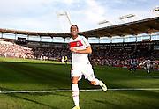 Jérémy Ménez scores to make it 3-1 to PSG against Toulouse in the 90th minute. Toulouse v Paris Saint Germain (1-3), Ligue 1, Stade Municipal, Toulouse, France, 28th August 2011.