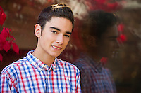Matt senior portrait session at Belknap Mill Laconia.  ©2015 Karen Bobotas Photographer