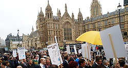 Lawyers and Barristers take part in a demonstration to 'Save Legal Aid'  outside Westminster, London, UK, May 22, 2013. Photo by Max Nash / i-Images...