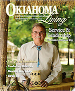 Deputy Chief Joe Crittenden of the Cherokee Nation featured on the cover of Oklahoma Living Magazine September 2012