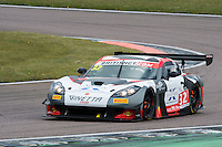 Ian Stinton (GBR) / Mike Simpson (GBR)  #32 Tolman Motorsport  Ginetta G55 GT3  Ginetta 4.3L V8 British GT Championship at Rockingham, Corby, Northamptonshire, United Kingdom. April 30 2016. World Copyright Peter Taylor/PSP.