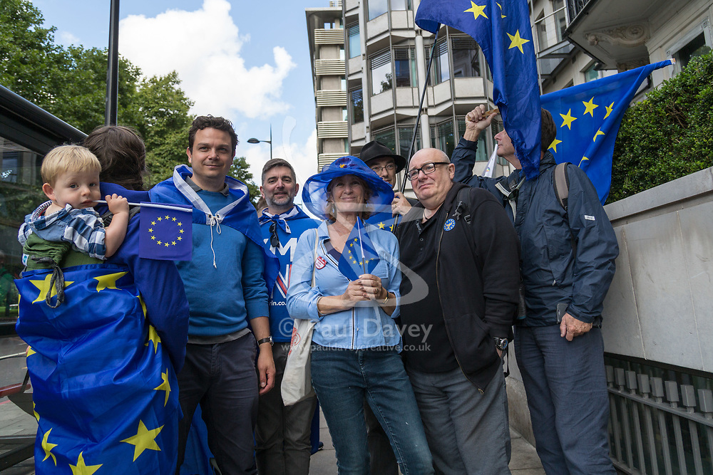 """London, September 09 2017. Thousands of protesters gather in London for a march from Hyde Park Corner to Parliament Square, with the organisers saying """"The British public is increasingly concerned about Brexit; poll after poll shows a bigger majority for staying in the EU"""".© Paul Davey"""