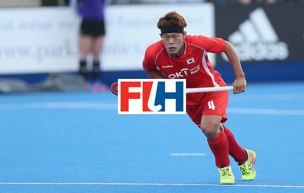LONDON, ENGLAND - JUNE 16:  Namyong Lee of Korea during the FIH Mens Hero Hockey Champions Trophy match between Korea and Germany at Queen Elizabeth Olympic Park on June 16, 2016 in London, England.  (Photo by Alex Morton/Getty Images)