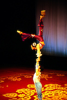 Acrobat performance, Shanghai Centre, Shanghai, China