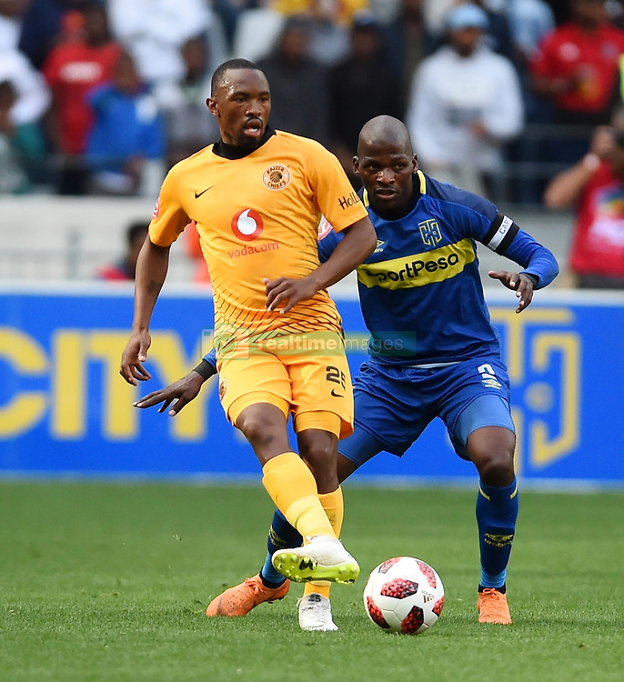 Cape Town-180915- Kaizer Chiefs Striker Bernard Parker challenged by Cape Town City defender Thami Mkhize  in the ABSA Premiership clash at the cape Town Stadium.Photographs:Phando Jikelo/African News Agency/ANA