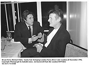 Bryan Ferry, Michael Palin.  Vanity Fair Swinging London Party. River Cafe. London.20 November 1996.<br />