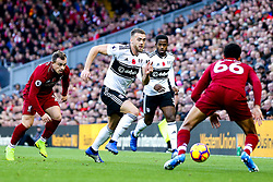 Calum Chambers of Fulham takes on Trent Alexander-Arnold of Liverpool - Mandatory by-line: Robbie Stephenson/JMP - 11/11/2018 - FOOTBALL - Anfield - Liverpool, England - Liverpool v Fulham - Premier League