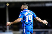 Peterborough United forward Conor Washington celebrates his goal during the Sky Bet League 1 match between Peterborough United and Shrewsbury Town at the ABAX Stadium, Peterborough, England on 12 December 2015. Photo by Aaron Lupton.