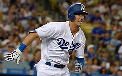 June 21, 2017 - Los Angeles, California, U.S. - Los Angeles Dodgers' Cody Bellinger doubles against the New York Mets in the fourth inning of a Major League baseball game at Dodger Stadium on Wednesday, June 21, 2017 in Los Angeles. Los Angeles. (Photo by Keith Birmingham, Pasadena Star-News/SCNG) (Credit Image: © San Gabriel Valley Tribune via ZUMA Wire)