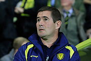 Burton Albion manager Nigel Clough during the EFL Sky Bet Championship match between Burton Albion and Aston Villa at the Pirelli Stadium, Burton upon Trent, England on 26 September 2017. Photo by Richard Holmes.