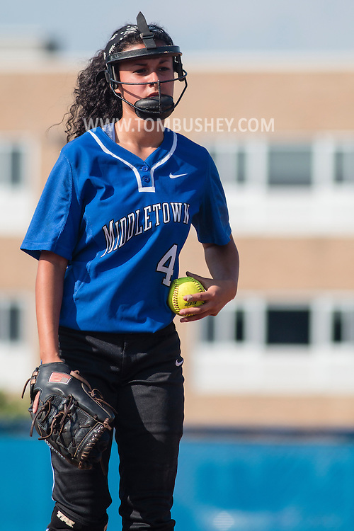 Middletown, New York - Middletown plays Valley Central in a high school varsity softball game on May 19, 2015.