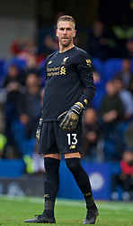 LONDON, ENGLAND - Sunday, September 22, 2019: Liverpool's goalkeeper Adrián San Miguel del Castillo during the FA Premier League match between Chelsea FC and Liverpool FC at Stamford Bridge. (Pic by David Rawcliffe/Propaganda)