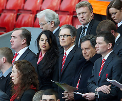 15.04.2013, Anfield Road, Liverpool, ENG, PL, Liverpool FC, 24. Jahrestag der Hillsborough Katastrophe, im Bild Liverpool's owner John W. Henry and partner Linda Pizzuti during the 24th Anniversary Hillsborough Service at Anfield, Liverpool, United Kingdom on 2013/04/15. EXPA Pictures © 2013, PhotoCredit: EXPA/ Propagandaphoto/ David Rawcliffe..***** ATTENTION - OUT OF ENG, GBR, UK *****