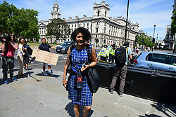 © Licensed to London News Pictures. 02/06/2020. London, UK. Labour MP  Chi Onwurah  Is seen arriving at The Houses of Parliament in London ahead of a 90-minute debate on the new voting system and a series of votes this afternoon. Government has introduced further measures to slowly ease lockdown, which was introduced to fight the spread of the COVID-19 strain of coronavirus. Photo credit: Ben Cawthra/LNP