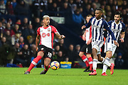Southampton midfielder Mario Lamina (18) under pressure during the Premier League match between West Bromwich Albion and Southampton at The Hawthorns, West Bromwich, England on 3 February 2018. Picture by Dennis Goodwin.