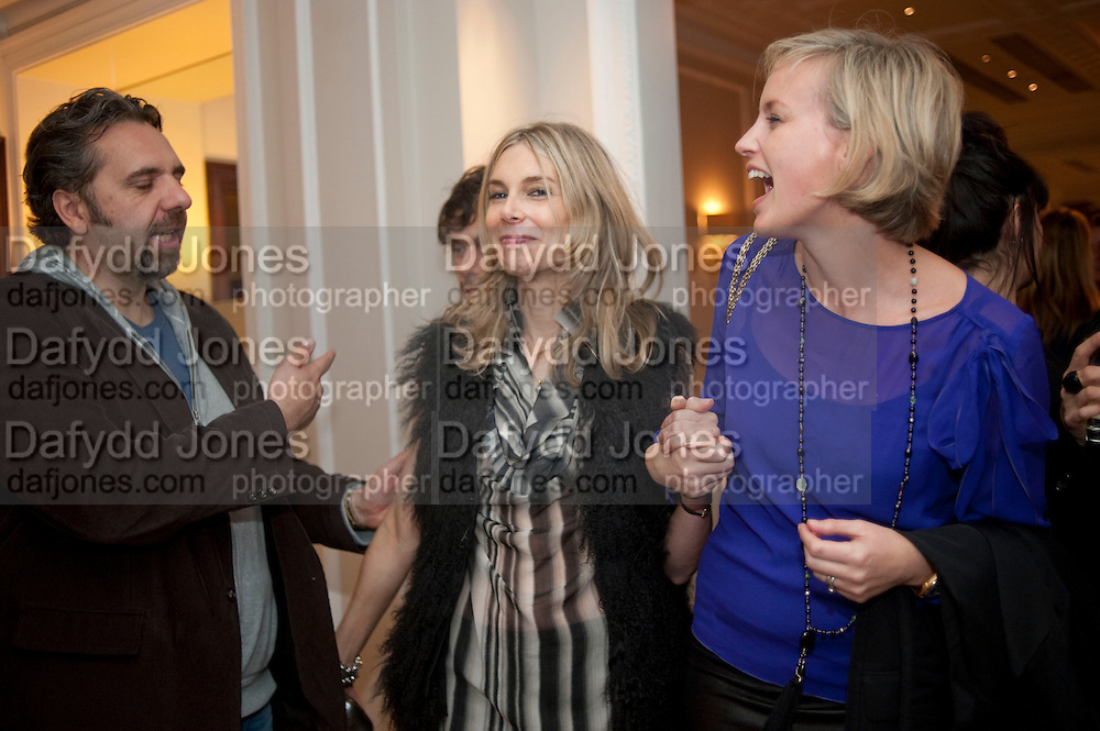 KEITH TYSON; KIM HERSOV; BODIL BLAIN, Capturing Claudia. Interpretations of Claudia Schiffer by leading contemporary artists for Harpers Bazaar magazine. Colnaghis Gallery. Old Bond st. and afterwards at Locanda Locatelli's restaurant. Portman sq. London. 2 November 2009.