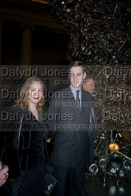 HELENA REES-MOGG; JACOB REES-MOGG, Van Dyck private view and dinner. Tate Britain. 16 February 2009 *** Local Caption *** -DO NOT ARCHIVE -Copyright Photograph by Dafydd Jones. 248 Clapham Rd. London SW9 0PZ. Tel 0207 820 0771. www.dafjones.com<br /> HELENA REES-MOGG; JACOB REES-MOGG, Van Dyck private view and dinner. Tate Britain. 16 February 2009