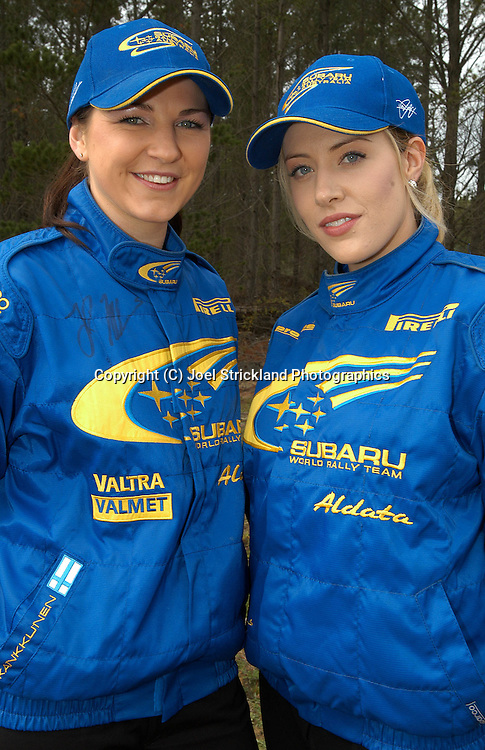 Subaru Promo girls.2003 Rally of Canberra .Canberra, ACT, Australia.25-27th of April 2003.(C) Joel Strickland Photographics