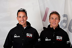 Palma March 2011 Swiss Sailing Team portraits photoshooting left Simon Brugger and Mathias Buhler right 470 class