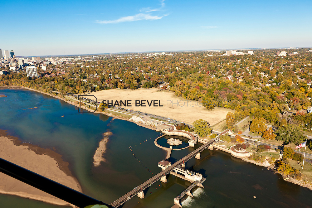 11/4/11 4:22:45 PM -- Riverside aerials..Photo by Shane Bevel.Aerial images of Tulsa's Riverparks and views of downtown Tulsa as well as the riverside area.