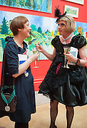 CORNELIA PARKER; GRAYSON PERRY, Royal Academy of Arts Annual dinner. Piccadilly. London. 29 May 2012.