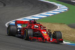 July 20, 2018 - Hockenheim, Germany - Ratings leader SEBASTIAN VETTEL (GER, Scuderia Ferrari) during practice at the FIA Formula One World Championship 2018, Grand Prix of Germany. (Credit Image: © Hoch Zwei via ZUMA Wire)
