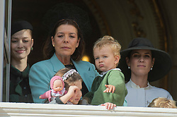 Beatrice Borromeo, Princess Caroline of Hanover, Stefano Ercole Carlo Casiraghi, Francesco Carlo Albert Casiraghi, Tatiana Santo Domingo, India Casiraghi are attending the military procession held in the Palace Square, during the National Day ceremonies, Monaco Ville (Principality of Monaco), on november 19th, 2019. Photo by Marco Piovanotto/ABACAPRESS.COM
