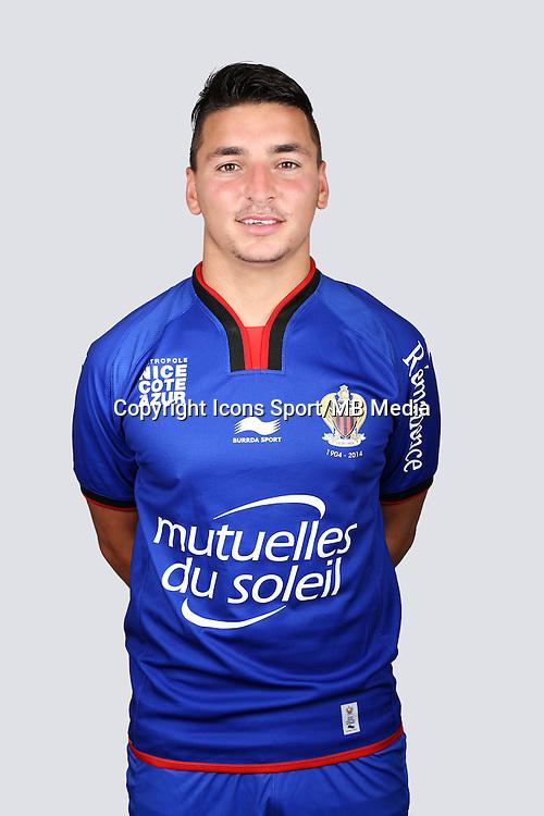 Yoan CARDINALE - 01.10.2014 - Portrait Officiel Nice -<br /> Photo : Alexandre DEBBACHE / Nice / Icon Sport