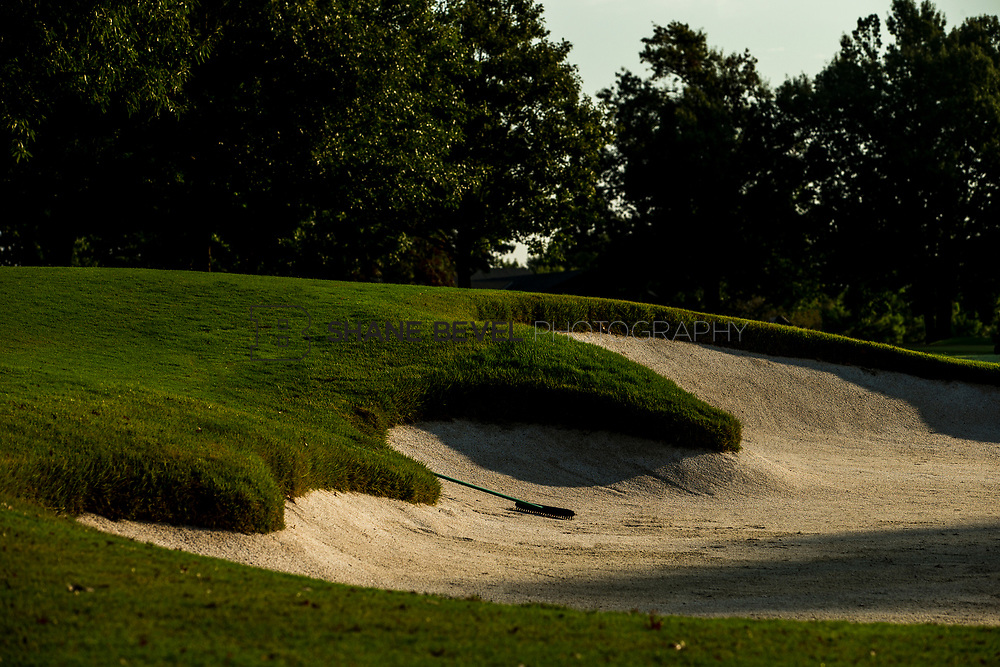 9/25/17 9:00:53 AM -- Bunkers and greens on Cedar Ridge Country Club for Jonesplan. <br /> <br /> Photo by Shane Bevel