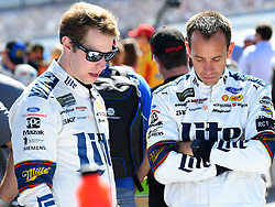 October 14, 2018 - Talladega, AL, U.S. - TALLADEGA, AL - OCTOBER 14: Brad Keselowski, Team Penske, Ford Fusion Miller Lite (2) and his crew chief Paul Wolfe on pit road before the 1000Bulbs.com 500 on October 14, 2018, at Talladega Superspeedway in Tallageda, AL.(Photo by Jeffrey Vest/Icon Sportswire) (Credit Image: © Jeffrey Vest/Icon SMI via ZUMA Press)