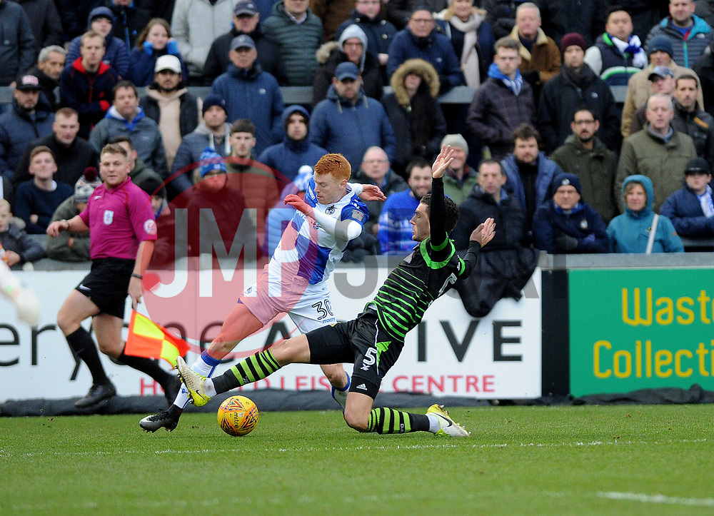 Rory Gaffney of Bristol Rovers gets a cross over - Mandatory by-line: Neil Brookman/JMP - 23/12/2017 - FOOTBALL - Memorial Stadium - Bristol, England - Bristol Rovers v Doncaster Rovers - Sky Bet League One