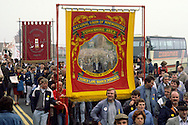 Church Lane Branch, Dearne Valley Branch Banners on a Yorkshire Area NUM march in Barnsley.