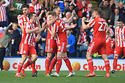 GOAL Charlie Wyke celebrates scoring 1-1  during the EFL Sky Bet League 1 match between Rochdale and Sunderland at Spotland, Rochdale, England on 6 April 2019.
