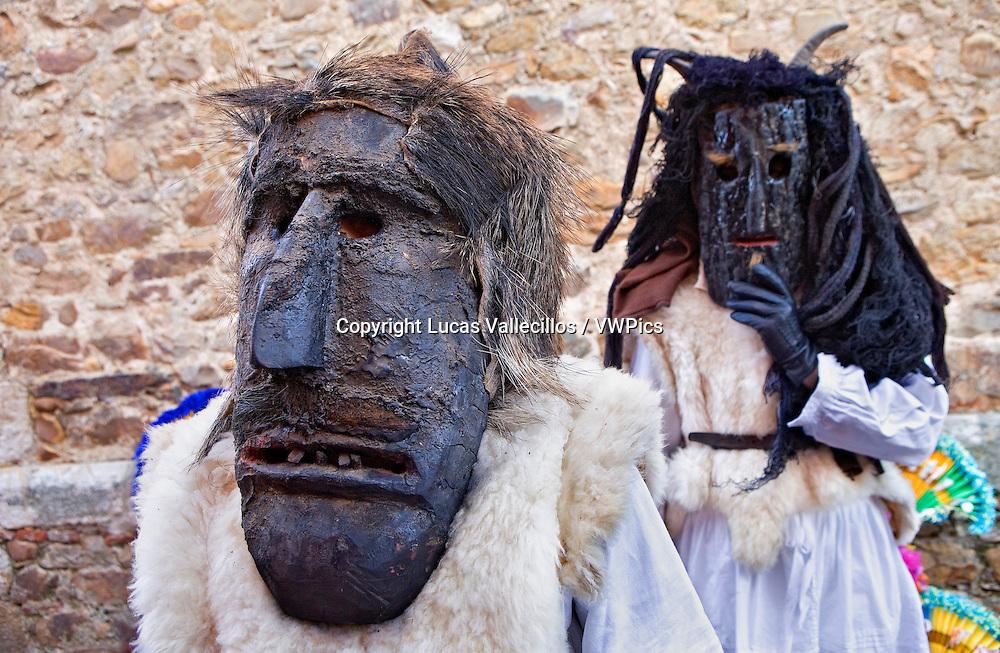 Antruejo (Carnival).Caretones. Llamas de la Ribera. León. Castilla y León. Spain