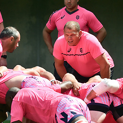 Pieter De Villiers coach of Paris during Top 14 match between Perpignan and Stade Francais on August 25, 2018 in Perpignan, France. (Photo by Alexandre Dimou/Icon Sport)