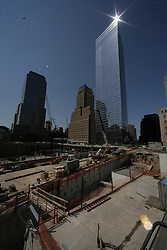 NEW YORK, NY - MAY-13-2007 - Construction at Ground Zero in New York City, site of the 911 - September 11, 2001,  terrorist attacks. (Photo © Jock Fistick)