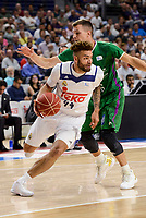 Real Madrid's Jeffery Taylor and Unicaja Malaga's Nemanja Nedovic during semi finals of playoff Liga Endesa match between Real Madrid and Unicaja Malaga at Wizink Center in Madrid, May 31, 2017. Spain.<br /> (ALTERPHOTOS/BorjaB.Hojas)