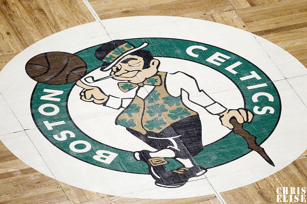 01 June 2012: Close view of the Celtics logo on the court during the first quarter of Game 3 of the Eastern Conference Finals playoff series, Heat vs Celtics, at the TD Banknorth Garden, Boston, Massachusetts, USA.