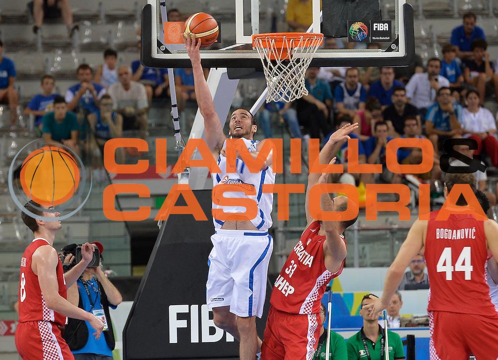 DESCRIZIONE: Torino FIBA Olympic Qualifying Tournament Grecia Croazia<br /> GIOCATORE: Koufos Kostas<br /> CATEGORIA: GREECE GRECIA<br /> GARA: FIBA Olympic Qualifying Tournament Grecia-Croazia<br /> DATA: 08/07/2016<br /> AUTORE: Agenzia Ciamillo-Castoria